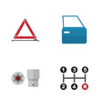 flat icon workshop set of automobile part vector image vector image