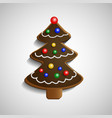 Gingerbread chocolate Christmas tree vector image