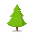 green bushy christmas tree icon isolated on white vector image