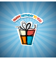 Happy Birthday Blue Background vector image