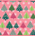 happy new year background with firs for winter vector image vector image