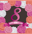 happy womens day 8 march international celebration vector image