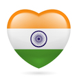 Heart icon of India vector image vector image
