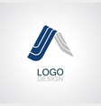 home 3d triangle logo vector image vector image
