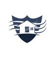 home shield vector image vector image
