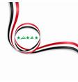 iraqi wavy flag background vector image vector image