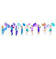 isometry big set of adolescent girls generation z vector image vector image