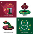 jewelry accessories set expensive vector image