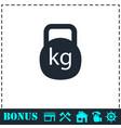 kettlebell icon flat vector image