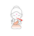 little buddha blowing kisses vector image vector image