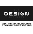 modern stylized font - minimalistic design vector image vector image