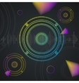 Music Background Colorful Outline Loudspeaker vector image vector image