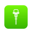 pneumatic hammer icon digital green vector image vector image