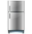 Refrigerator with two doors vector image vector image