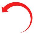 rotate backward flat icon symbol vector image