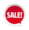 sale label sticker speech bubble vector image