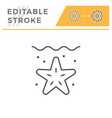 sea editable stroke line icon vector image
