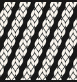 seamless pattern with diagonal ropes vector image vector image