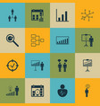 set 16 executive icons includes personal vector image vector image