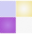 Set of color radiant backgrounds vector image vector image