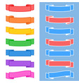 set of colored isolated banner ribbons on white vector image vector image