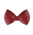 single bowtie icon image vector image