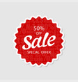 special offer sale 50off price tag vector image vector image