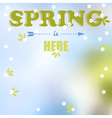 Spring is here words vector image vector image