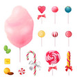 sweets realistic icons set vector image vector image