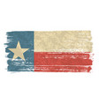 texan flag with a vintage and old look lone star vector image