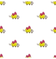 truck icons seamless pattern funny gift vector image vector image