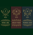 vintage packaging design with monograms logos set vector image vector image