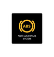 warning dashboard car icon anti-lock brake system vector image