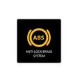 Warning dashboard car icon anti-lock brake system