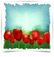 Watercolor summer tulips background vector | Price: 1 Credit (USD $1)