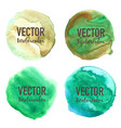 watercolour circle set on white background vector image vector image