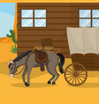 wester hour with horse outside vector image