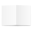 White blank paper card vector image vector image