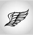 wing logo icon vector image