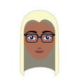 woman hipster avatar vector image vector image
