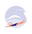 woman practicing swimming avatar character vector image