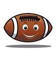 Bouncing american football ball vector image