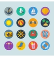 Summer sea holidays icons vector image