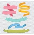 Hand drawn doodle ribbon set vector image