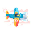 pilot flying on airplane on air show vector image
