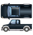 A black pickup vector image