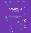 abstract poster bright creative graphic design vector image vector image