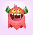 angry cartoon monster halloween vector image vector image