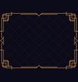 art deco frame vintage linear border design a vector image vector image