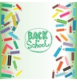 Back to School Flat colored pencils on white and vector image